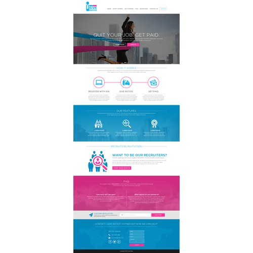 iGiveNotice Website Designs