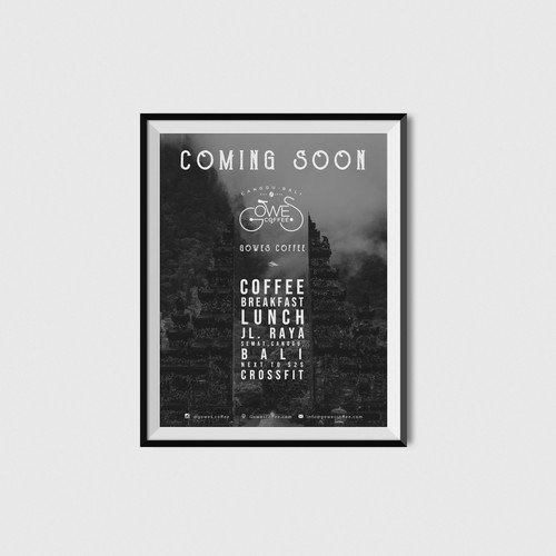 Poster Design for GOWES COFFEE
