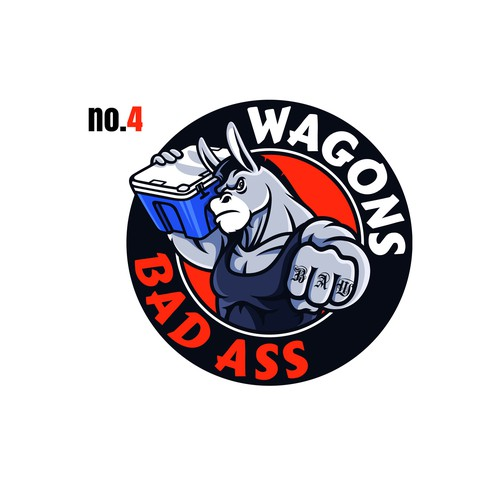 Bad Ass Wagons logo to appeal to outdoor enthusiasts