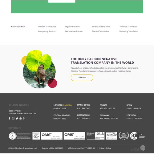 Simple & Clean Footer Redesign