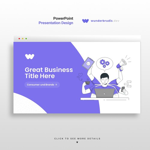 Creative presentation pitch deck