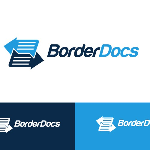 Create a logo for BorderDocs - a helpful website for transportation companies