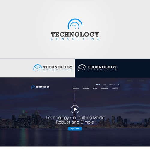 Technology Consulting - Logo and Website Template