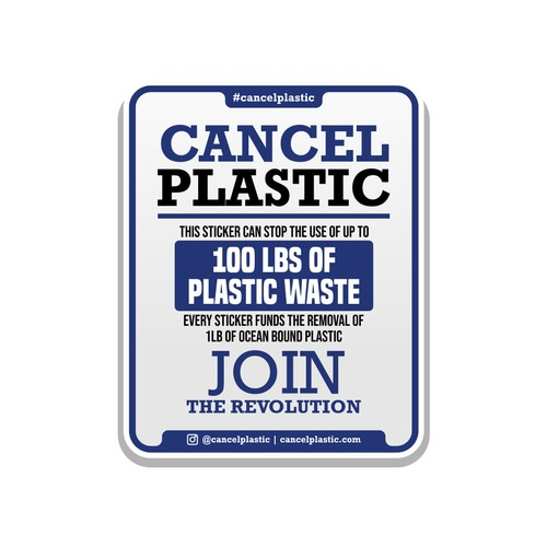 Cancel Plastic Sticker