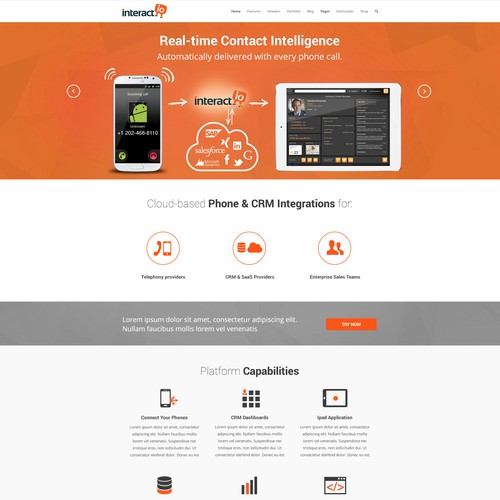interact.io SAAS website