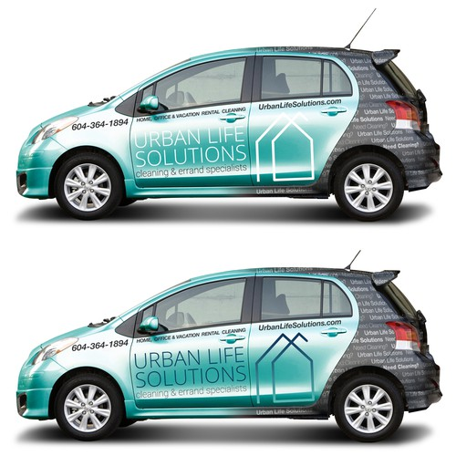 Design a modern Car Wrap for Cleaning Company