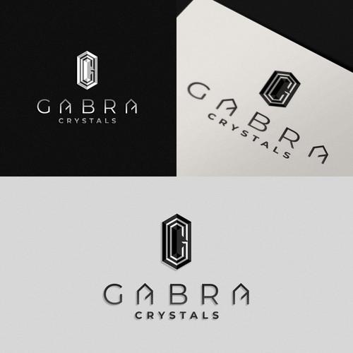 elegant logo for crystals