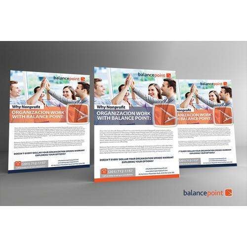 Balance Point Payroll needs a Nonprofit flier.