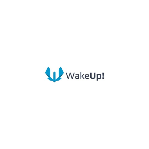 Letter WU logo concept for WakeUp!