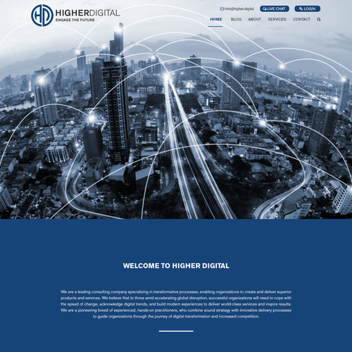 Web Site for Digital Strategy Company