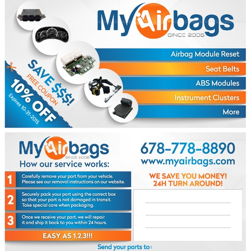 My Airbags postcard