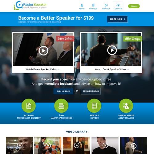 Alluring homepage concept for Professional Speaker Website
