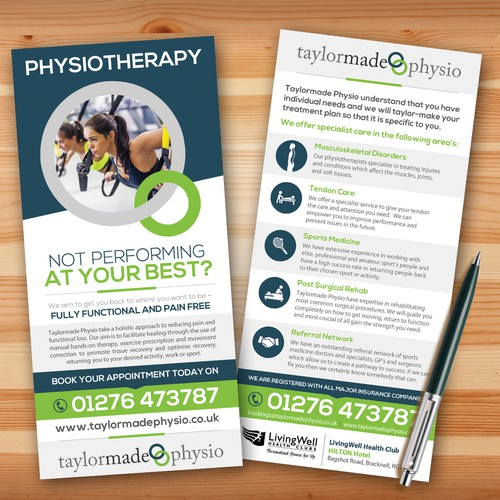 DL Sized flyer for Taylormade Physio
