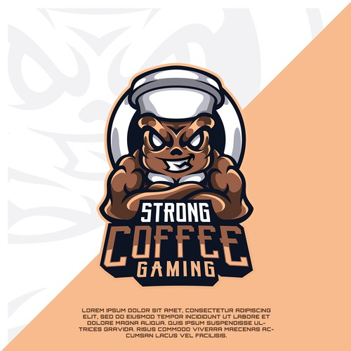 Strong Coffee Gaming Esports Logo Design