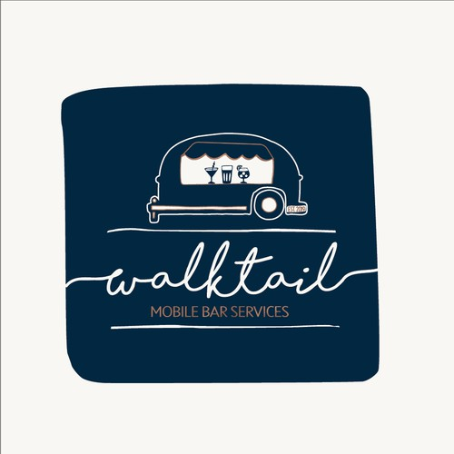 Airy logo for mobile cocktail bar