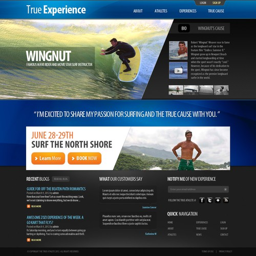TheTrueAthlete needs a new website design