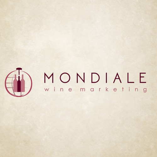 Create a visually captivating logo for an international wine marketing and strategy company