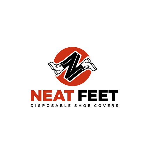 Logo concept for disposable shoe covers