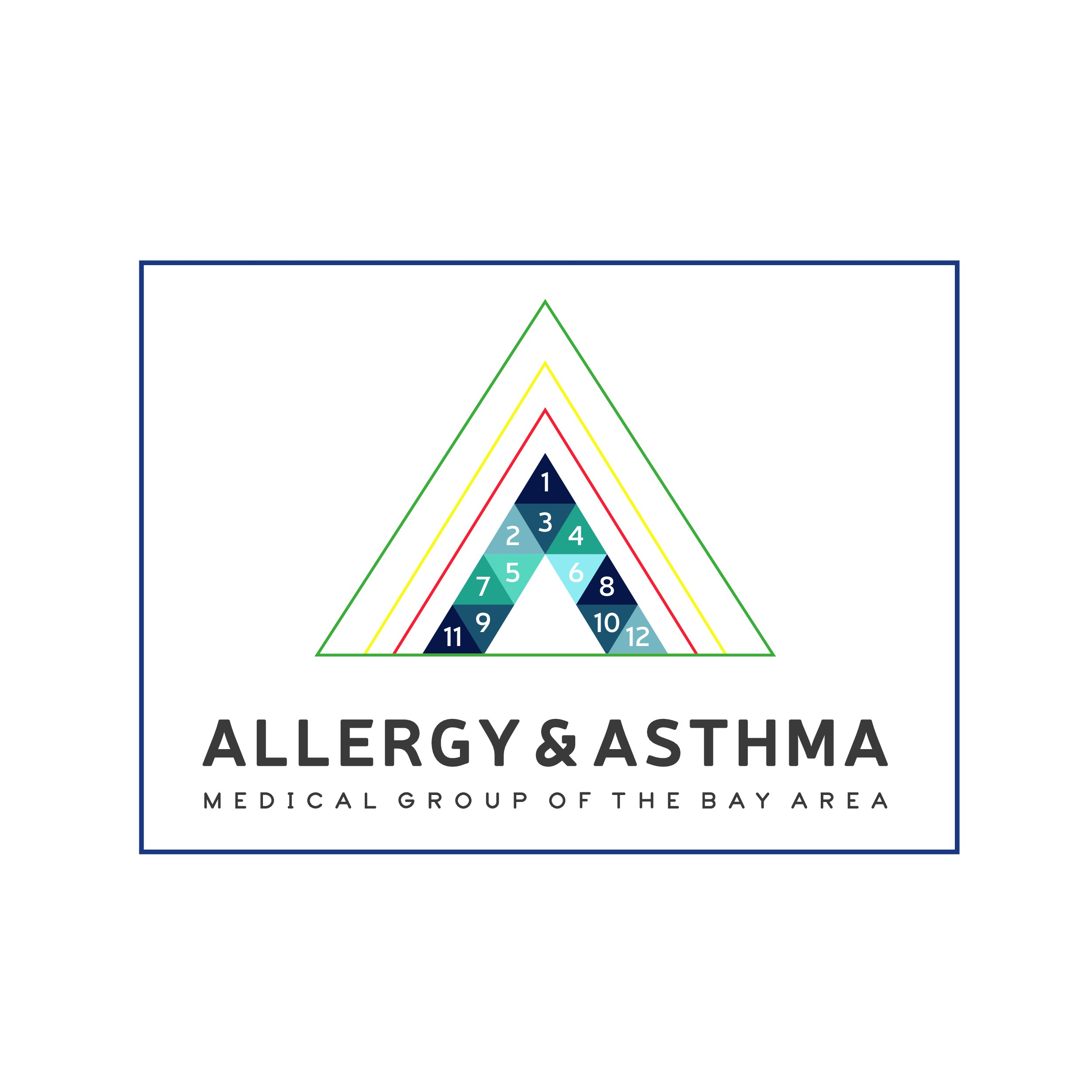 Design a modern and streamlined logo for our innovative allergy medical practice