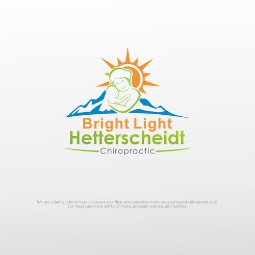 Bright Light Hetterscheidt Chiropractic logo design