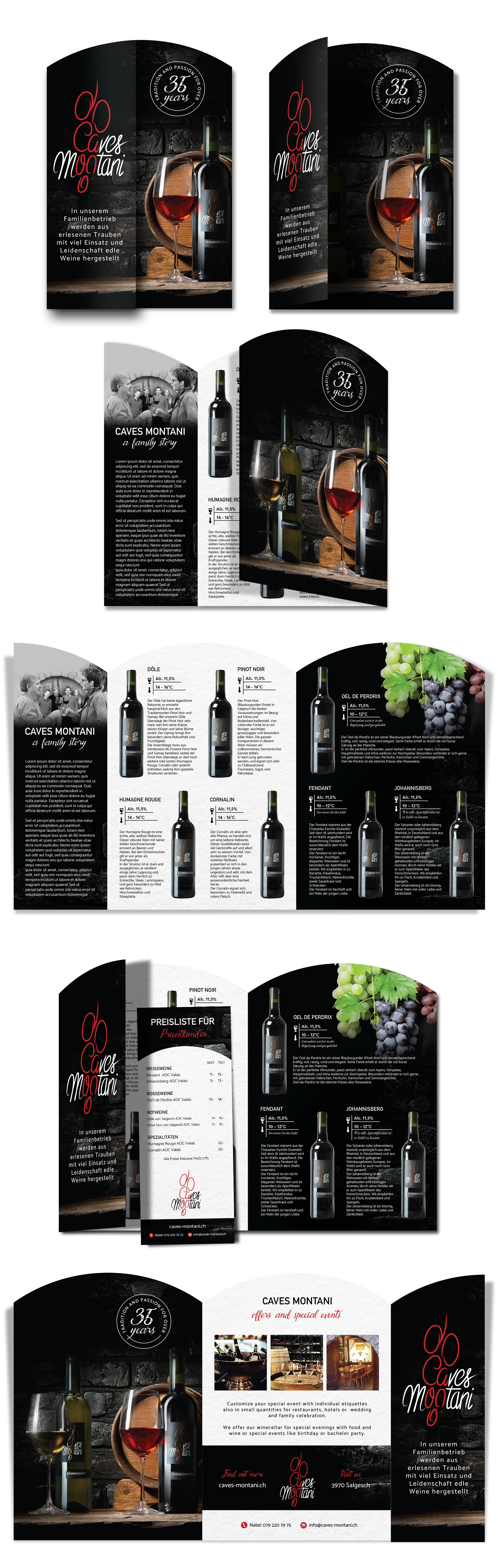 !!A New noble modern Flyer for our winery