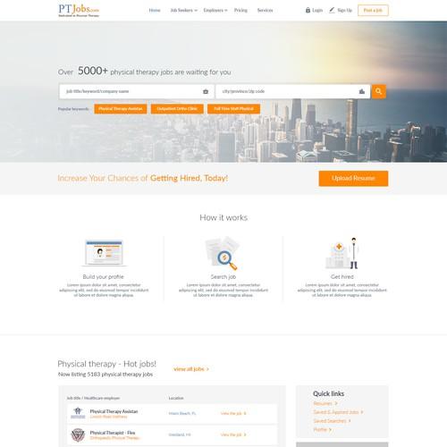 Website designs for PTJobs.com