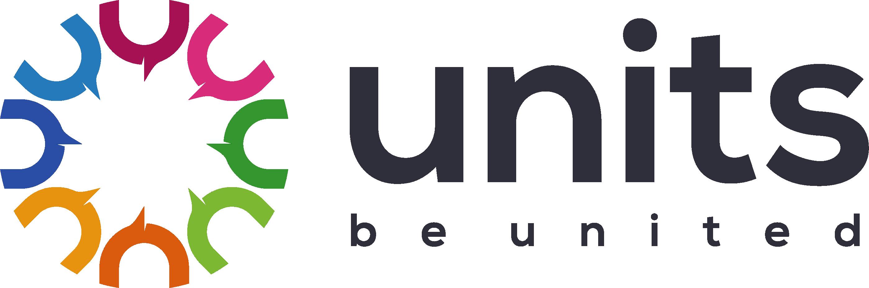 """""""Units""""というAppタイトルを一度で覚えられるデザインを作成してください"""