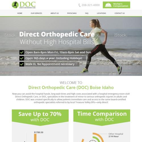 Webpage design Orthopedic Care