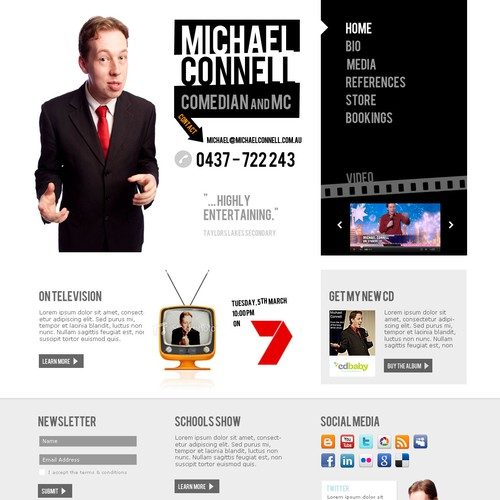 Create the next website design for Michael Connell