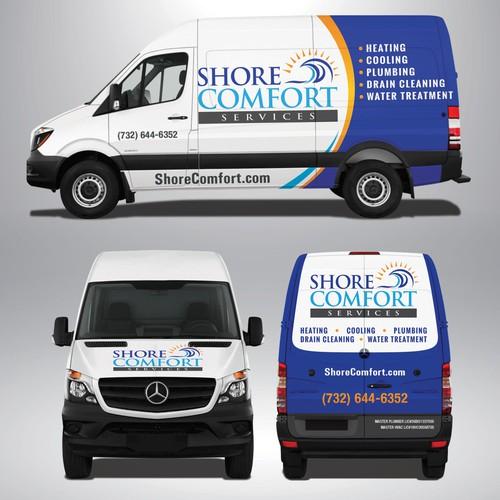 Plumbing Van Wrap Design