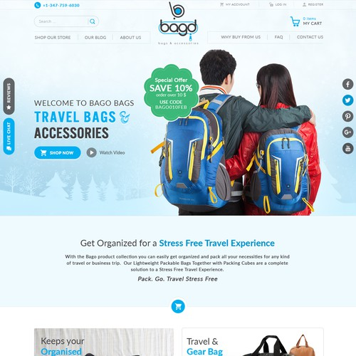 Redesign Brand Language and HomePage - Bago Travel Bags