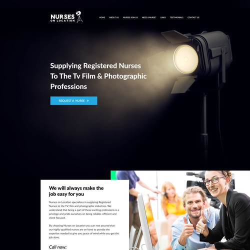 Home Page for Nurses on Location