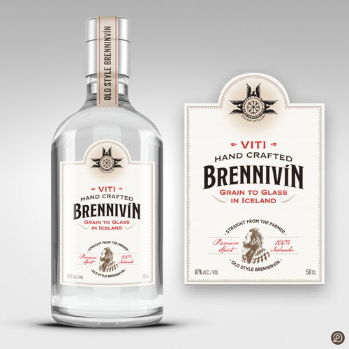 Brennivin label design