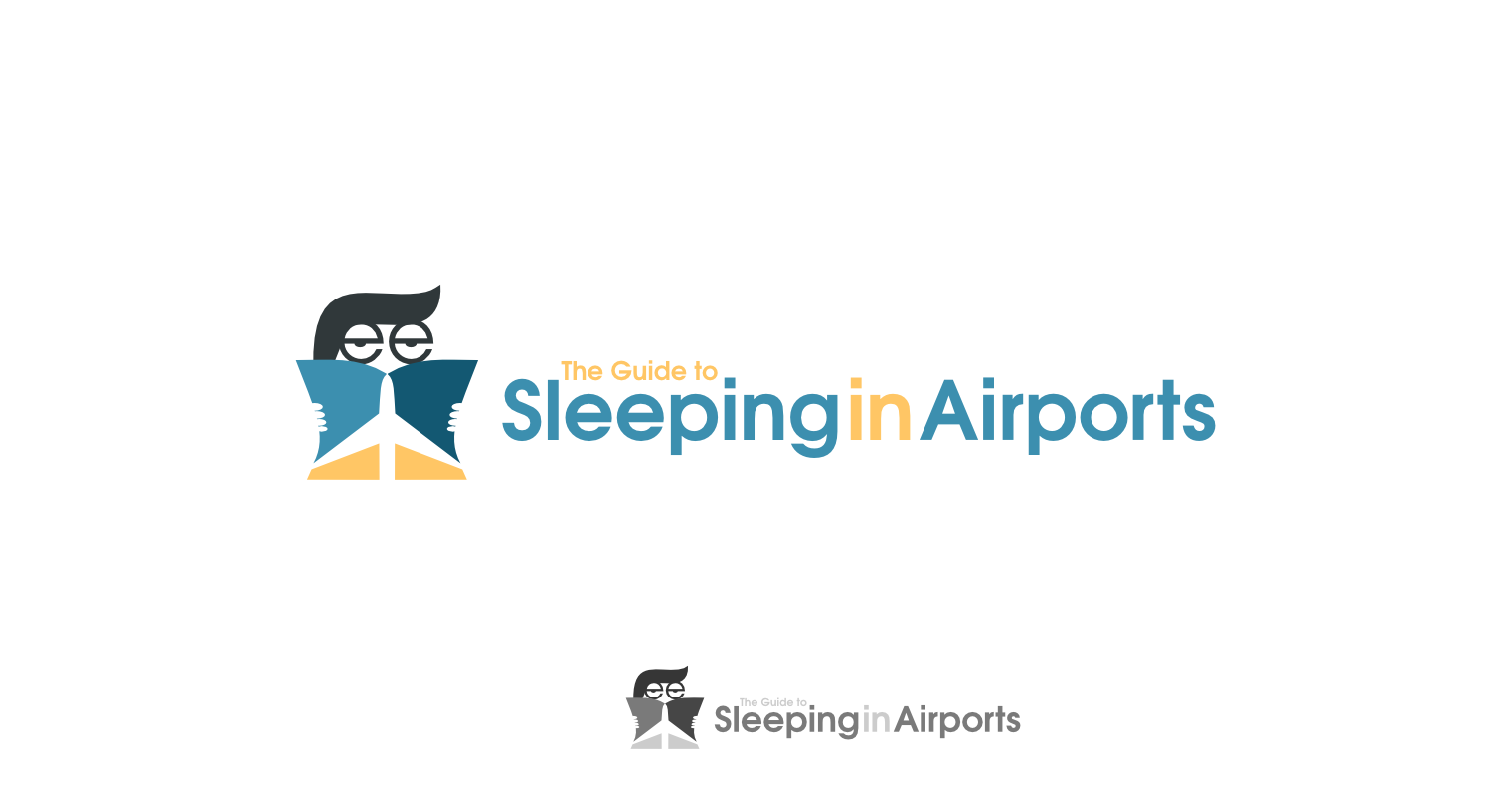 Create the new logo for The Guide to Sleeping in Airports