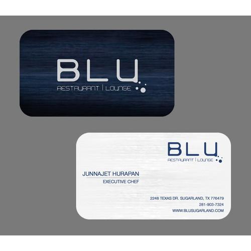 stationery for BLU Restaurant | Lounge