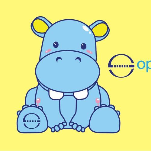 hippo mascot fo healthcare