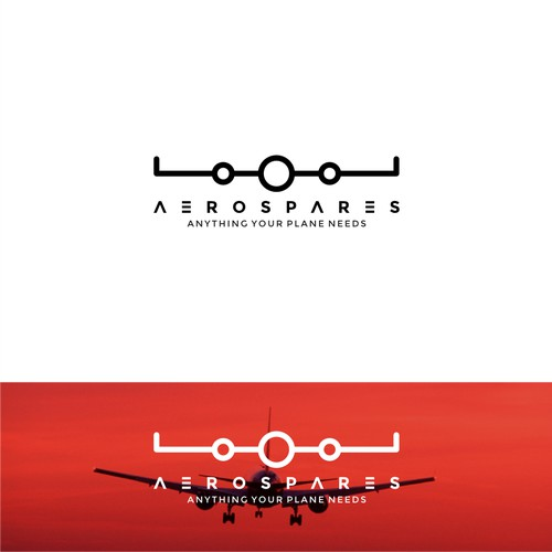 Line and simple logo concept for Aero Spares Co.