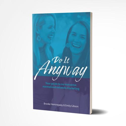 Bright, friendly book cover design