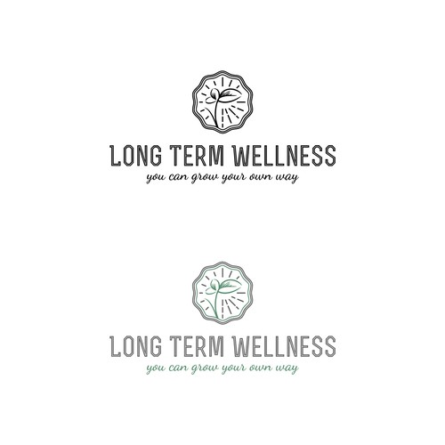Long Term Wellness logo for a nutrition and health coach.