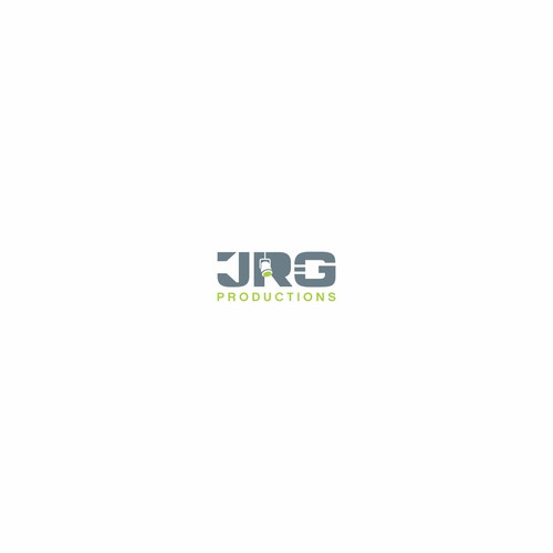Negative space logo concept for JRG