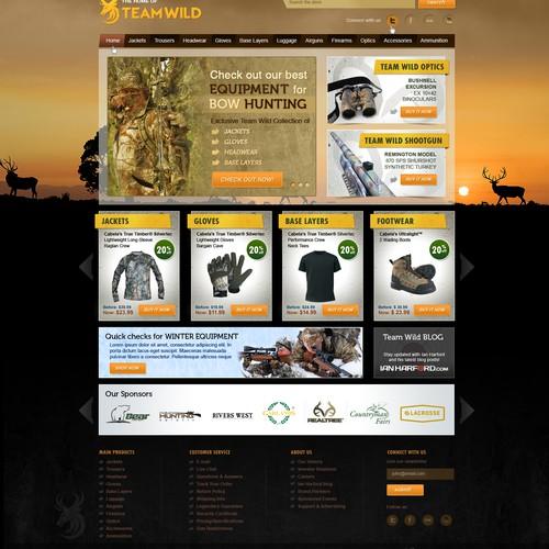 website design for Team Wild Hunting