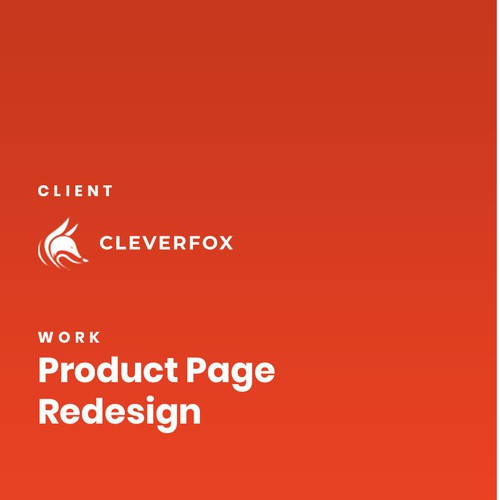 Product Page re-design for Planner company Cleverfox