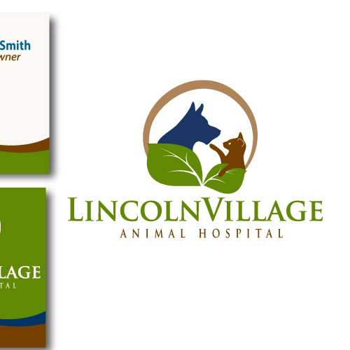Logo for a Caring, Green Planet Loving,  Animal Hospital