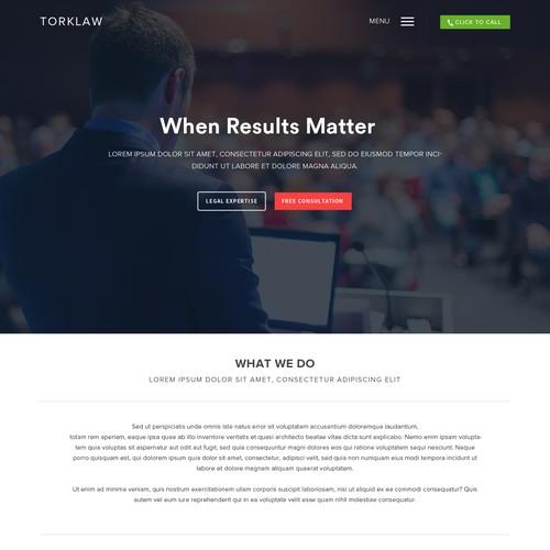 Attorney Website design