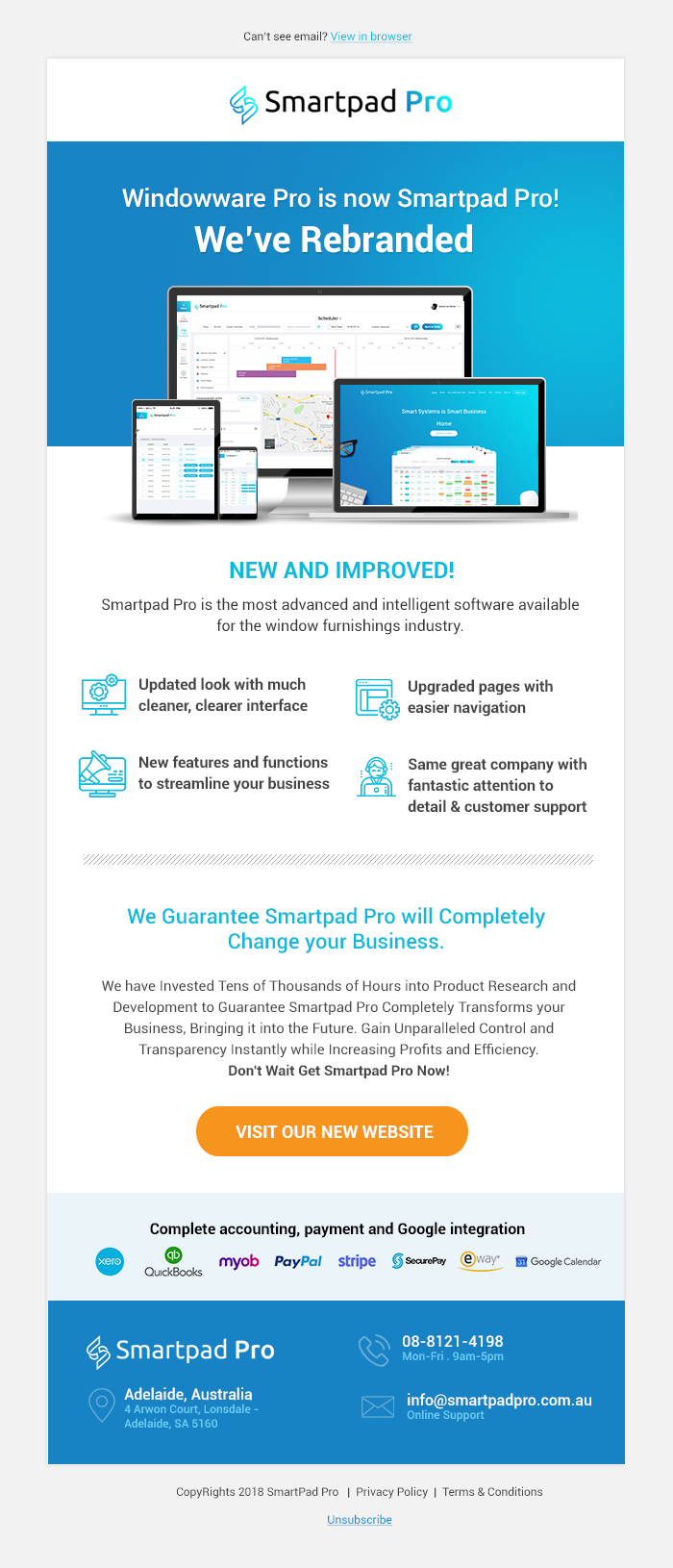 New Website e mail campaign templates