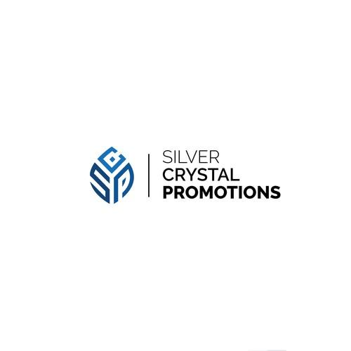 Silver crystal promotion logo