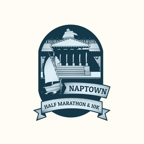 Vintage logo concept for Marathon Event