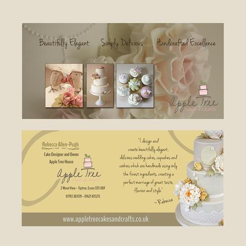 wedding cake postcard