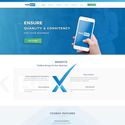 Website for technology platform