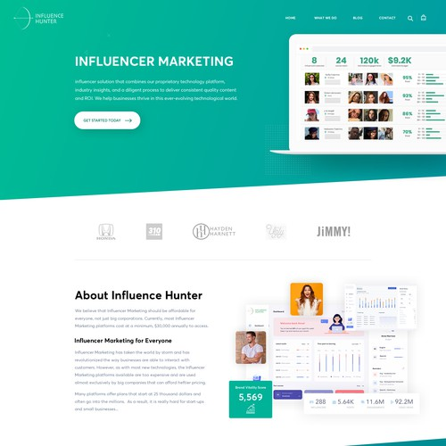 marketing page design